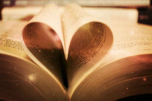 Heart Book Pages